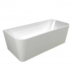 Back to Wall Freestanding Bath With Overflow