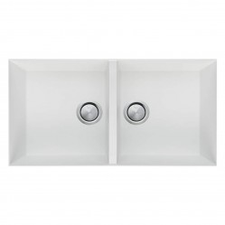 Oliveri Santorini White Double Bowl Undermount Sink