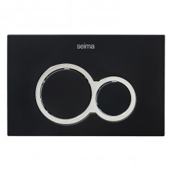 SEIMA 100 SERIES FLUSH BUTTON - MATTE BLACK