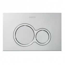 SEIMA 100 SERIES FLUSH BUTTON - metallic silver