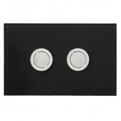 SEIMA 200 SERIES FLUSH BUTTON - BLACK GLASS