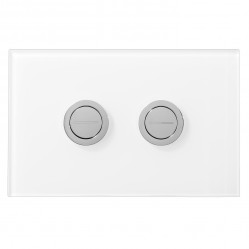 SEIMA 200 SERIES FLUSH BUTTON - white GLASS