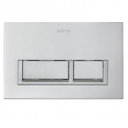 SEIMA 400 SERIES FLUSH BUTTON - metallic silver