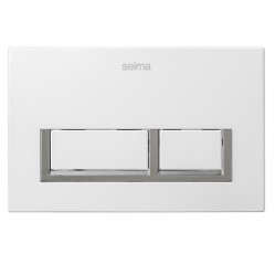 SEIMA 400 SERIES FLUSH BUTTON - GLOSS WHITE