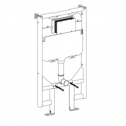 seima IN-WALL CISTERN WITH FRAME Slim design