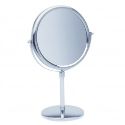 ablaze 1 & 5x Magnification Chrome Free Standing Vanity Mirror, 200mm Diameter