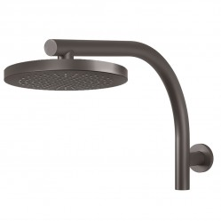 PHOENIX RUSH SHOWER ARM & ROUND ROSE HEAD Gun metal