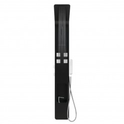 Decina Verso Matte Black Shower Tower