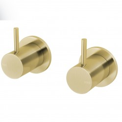 PHOENIX VIVID SLIMLINE WALL TOP ASSEMBLY - STANDARD SPINDLES BRUSHED GOLD