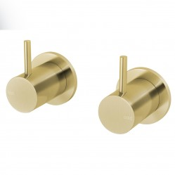 PHOENIX VIVID SLIMLINE WALL TOP ASSEMBLY - EXTENDED SPINDLES BRUSHED GOLD