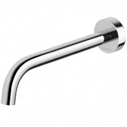 PHOENIX VIVID SLIMLINE 230MM CURVED WALL BASIN OUTLET CHROME
