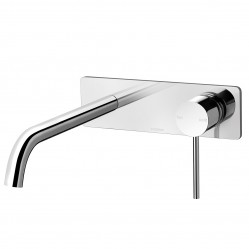 PHOENIX VIVID SLIMLINE 230MM CURVED WALL BATH MIXER SET CHROME