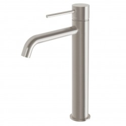 Phoenix Vivid Slimline Vessel Mixer Curved Outlet Brushed Nickel