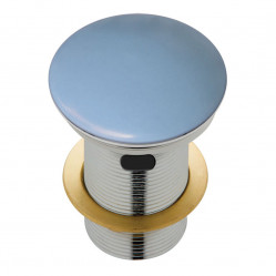 Fienza Ceramic Cap Pop-Up Waste 32mm with Overflow Matte Blue
