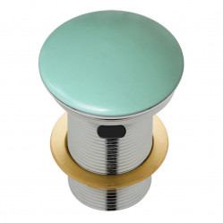 Fienza Ceramic Cap Pop-Up Waste 32mm with Overflow Matte Green