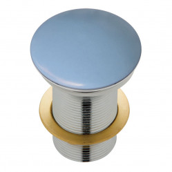 Fienza Ceramic Cap Pop-Up Waste 32mm Matte Blue