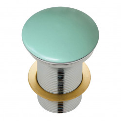 Fienza Ceramic Cap Pop-Up Waste 32mm Matte Green