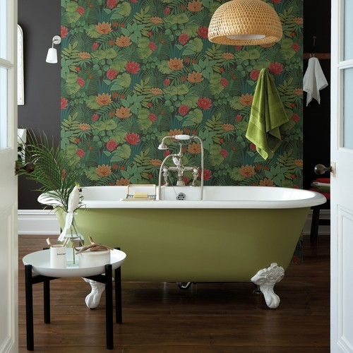 Patterned Wallpaper Commands Attention