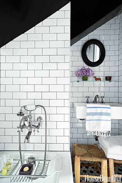 Dark grouted tiles